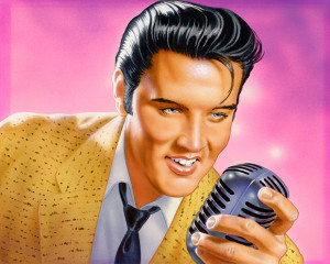 elvis with shure